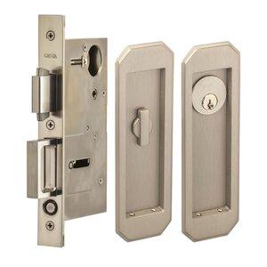 Pocket Door Hardware Large Traditional Rectangle Keyed