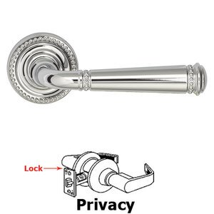 Omnia Industries Privacy Beaded Lever and Small Beaded Rose in Polished Chrome