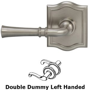 Omnia Industries Double Dummy Traditional Left-Handed Lever with Arch Rose in Satin Nickel