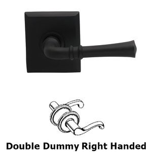 Omnia Industries Double Dummy Traditional Right-Handed Lever with Rectangle Rose in Oil Rubbed Bronze Lacquered
