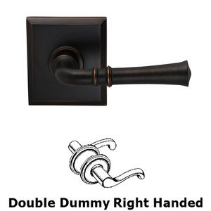 Omnia Industries Double Dummy Traditional Right-Handed Lever with Rectangle Rose in Tuscan Bronze