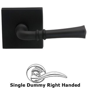 Omnia Industries Right-Handed Single Dummy Traditional Knob with Square Rose in Oil-Rubbed Bronze