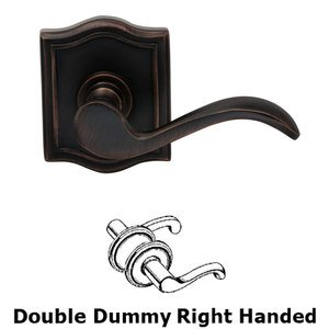 Omnia Industries Right Handed Double Dummy Wave Lever with Arch Rose in Tuscan Bronze