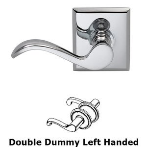 Omnia Industries Left Handed Double Dummy Wave Lever with Rectangle Rose in Polished Chrome