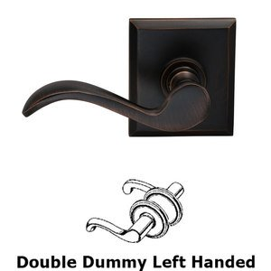 Omnia Industries Left Handed Double Dummy Wave Lever with Rectangle Rose in Tuscan Bronze