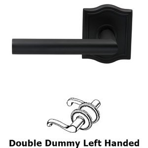 Omnia Industries Double Dummy Modern Left-Handed Lever with Arch Rose in Oil Rubbed Bronze