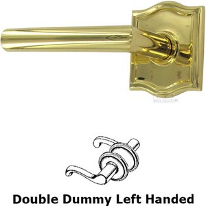 Omnia Industries Double Dummy Modern Left-Handed Lever with Arch Rose in Polished and Lacquered Brass