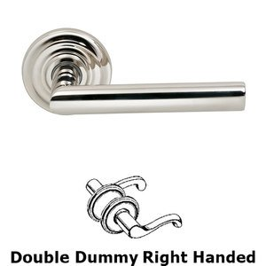 Omnia Industries Double Dummy Modern Left-Handed Lever with Traditional Rose in Polished Nickel Lacquered
