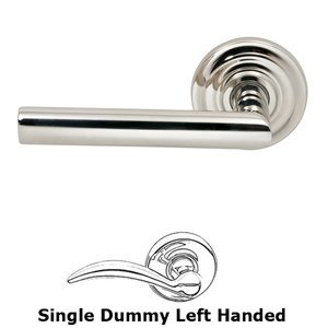 Prodigy by Omnia - Single Dummy Modern Left-Handed Lever with Traditional Rose in Polished Nickel