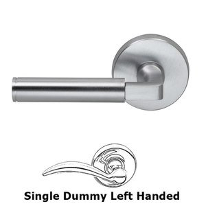 Door Levers by Omnia Door Hardware - Single Dummy Barrel Left Handed Lever with Plain Rosette  sc 1 st  MyKnobs.com & Door Levers - Single Dummy Barrel Left Handed Lever with Plain ...