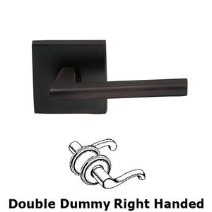 Omnia Industries Double Dummy Wedge Right-Handed Lever with Square Rose in Tuscan Bronze