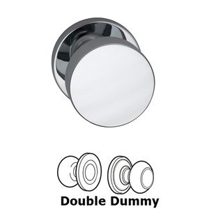 Omnia Industries Double Dummy Puck Knob with Modern Rose in Polished Chrome Plated