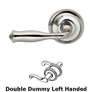 Omnia Industries Double Dummy Traditions Left Handed Lever with Radial Rosette in Polished Nickel Lacquered