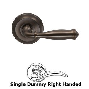 Omnia Industries Single Dummy Traditions Right Handed Lever with Radial Rosette in Antique Bronze