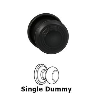 Omnia Industries Single Dummy Traditions Timeless Door Knob with Medium Radial Rosette in Oil Rubbed Bronze