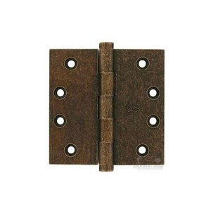 "Omnia Door Hinges - 4"" x 4"" Plain Bearing, Button Tip Solid Brass Hinge in Vintage Copper"