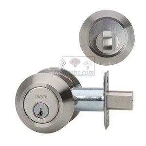 Omnia Industries Single Deadbolt in Brushed Stainless Steel