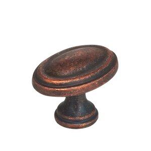 "Omnia Industries 1 3/16"" Cabinet Knob Vintage Copper"