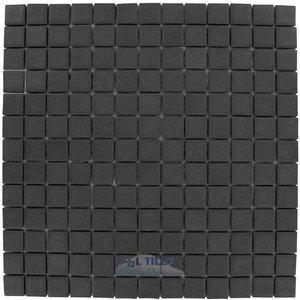 Onix Mosaico Glass Tiles Textured Black