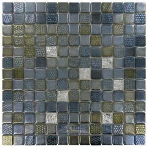 "Onix Mosaico Glass Tiles 1"" x 1"" Tile in Poseidon"