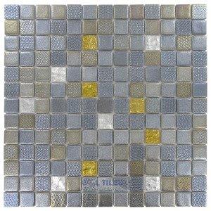 """Onix Mosaico Glass Tiles 1"""" x 1"""" Tile in Apollo"""