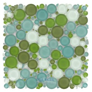 Optimal Tile Glossy Circles Glass Mosaic in Key West