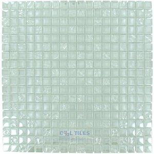 "Optimal Tile 5/8"" x 5/8"" Iridescent Glass Mosaic in Light"