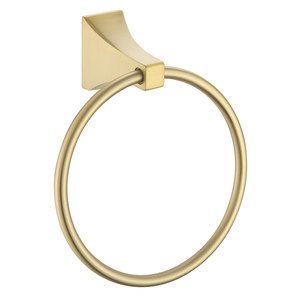 Paradise Bathworks Towel Ring in Satin Brass