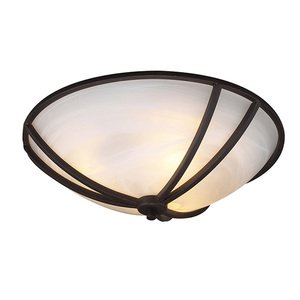 """PLC Lighting Highland 11"""" in Oil Rubbed Bronze with Marbleized Glass"""