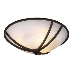 """PLC Lighting Highland 21"""" in Oil Rubbed Bronze with Marbleized Glass"""