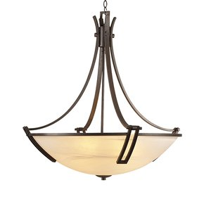 """PLC Lighting Highland 25"""" in Oil Rubbed Bronze with Marbleized Glass"""