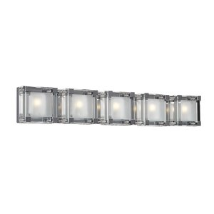 """PLC Lighting 33 1/2"""" Wall Light in Polished Chrome with Clear Glass"""
