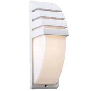 """PLC Lighting CFL 5"""" Exterior Light in White"""