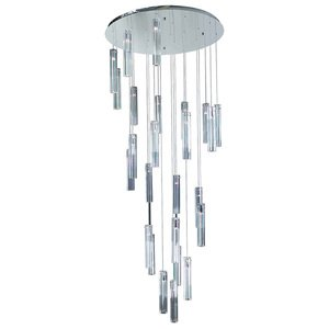 PLC Lighting Chandelier in Polished Chrome with K9 Optic Crystal