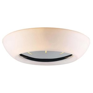 PLC Lighting Ceiling Light in Polished Chrome with Matte Opal Glass