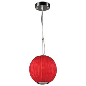 "PLC Lighting 8"" Pendant Pendant in Red"