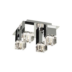 """PLC Lighting 14"""" Ceiling Light in Polished Chrome with Clear Glass"""