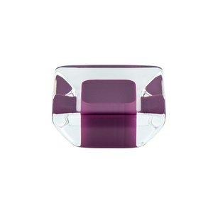 "R. Christensen Hardware 1 5/16"" Long Spectrum Knob in Transparent Violet"