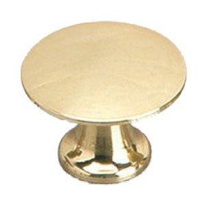 "Richelieu Hardware Solid Brass 1"" Diameter Flat Knob in Brass"