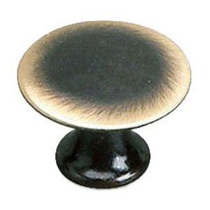 """Richelieu Hardware Solid Brass 1"""" Diameter Flat Knob in Satin Bronze"""