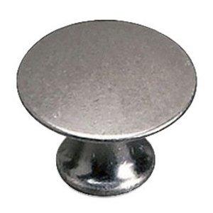 "Richelieu Hardware Solid Brass 1"" Diameter Flat Knob in Faux Iron"