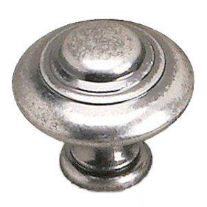 """Richelieu Hardware Solid Brass 1 3/8"""" Diameter Marseille Knob in Faux Iron"""