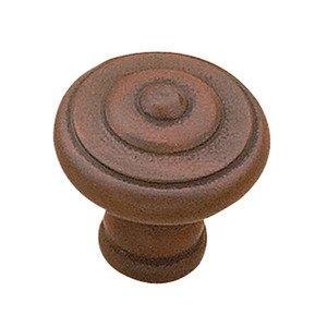 "Richelieu Hardware 1"" Diameter Beaded Knob in Antique Rust"