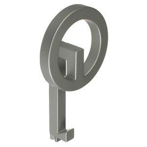 "Richelieu Hardware 6 7/8"" Long Single Square Tube Coat & Hat Hook in Matte Chrome"