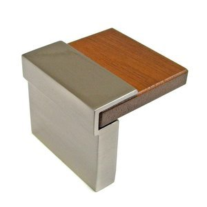 """Richelieu Hardware 5/8"""" Centers Wood Handle in Brushed Nickel and Varnished Wenge"""