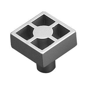 "Richelieu Hardware 15/16"" Long Square Framework Knob in Matte Chrome"