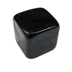 "Richelieu Hardware 1"" Ice Cube Knob in Black Glass"