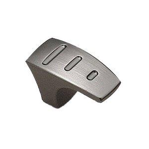 "Richelieu Hardware 1 17/32"" Sleek Knob in Charcoal"