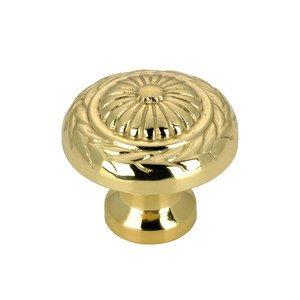 """Richelieu Hardware 1"""" Diameter Flower with Vine Knob in Brass"""