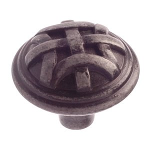 "Richelieu Hardware 1 1/4"" Diameter Celtic Knob in Wrought Iron"